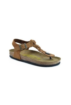 Real Natura 125-Corydella Taba Nubuk Kadın Sandalet