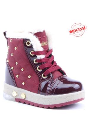 Twingo 2565 İçi Termal Kürklü Işıklı Kız Çocuk Bot Ayakkabı