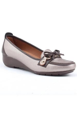 Wanetti 1305-K Dolgu Topuk Feta Günlük Babet Bayan Ayakkabı