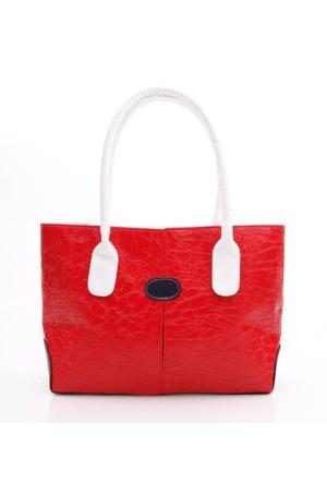 Berramore 105-2 Kırmızı-Beyaz Kadın Çanta
