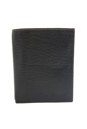 Tony Bellucci T136-984 Kahverengi Gerçek Deri Dik Erkek Cüzdan