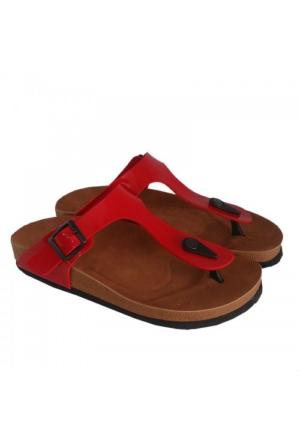 Berk Ayakkabı Kırmızı Parmak Arası Terlik