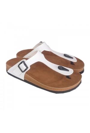 Berk Ayakkabı Beyaz Parmak Arası Terlik