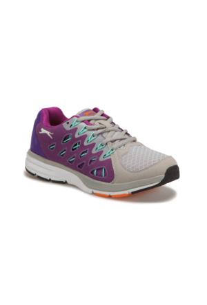 Slazenger Adıso Gri Mor Kadın Koşu Ayakkabısı