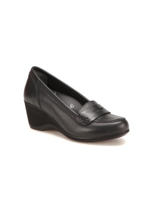 Polaris 5 Nokta 62.107584.Z Siyah Kadın Deri Ayakkabı