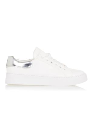 Ayakkabı - Beyaz Lame - Zenneshoes