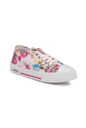 Kinetix A1291879 Beyaz Fuşya Yeşil Kız Çocuk Sneaker