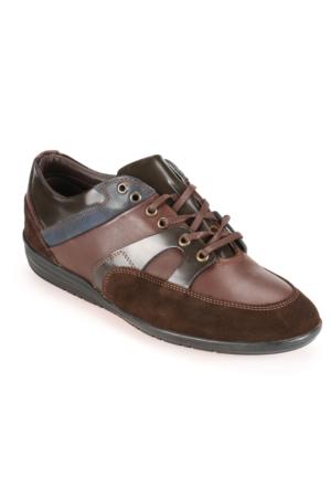 Salvano 59579-5 M 1910 Lacivert Taba Erkek Deri Ayakkabı