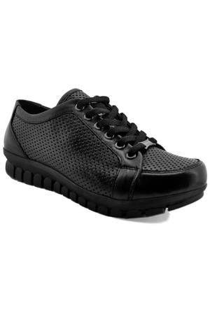 Mammamia D16Ya-370 Kadın Deri Ayakkabı Siyah