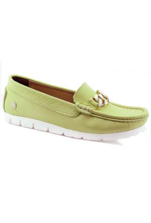 Mammamia D16Ya-3805 Kadın Deri Ayakkabı Sarı