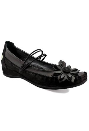 Mammamia D16Ya-4040 Ortopedik Deri Ayakkabı Siyah