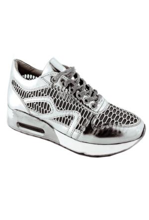Ottimo 4042 Fileli Kadın Ayakkabı Gümüş