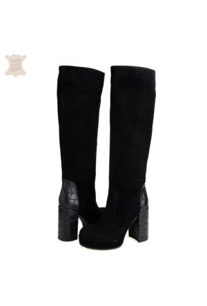 Dyn Topuklu Kadın Çizme Siyah
