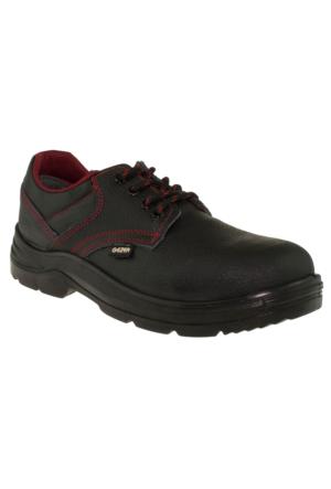 Gezer İş Güvenliği Deri Çelik Burunlu Siyah Erkek Ayakkabı