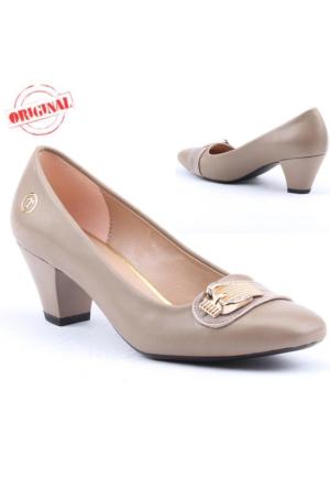 Myzenn 638 Bayan Topuklu Ayakkabı 4,5 cm Günlük Klasik