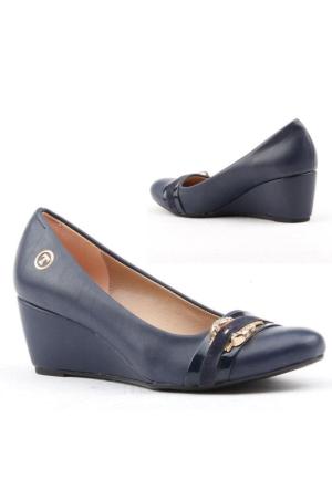 Myzenn 218 Bayan Dolgu Topuk Ayakkabı 5.5cm Günlük Klasik Ayakkabı