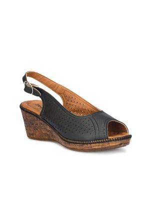 Polaris 71.157340.Z Siyah Kadın Sandalet