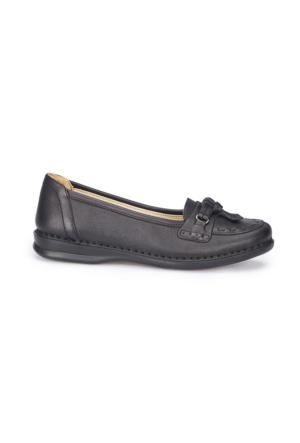 Polaris 5 Nokta 71.104423.Z Siyah Kadın Deri Ayakkabı