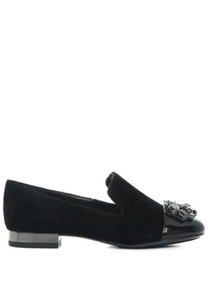 Nine West Kadın Nwzarinia2 Siyah Kadife Ayakkabı
