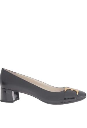 Anne Klein Kadın Akhastobe Siyah Gerçek Deri Ayakkabı