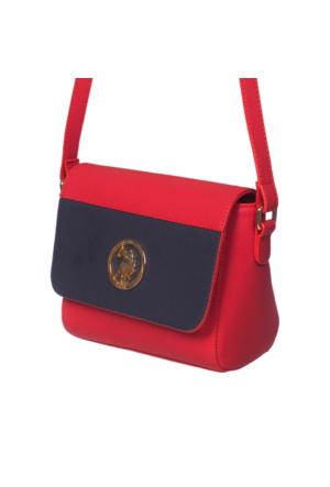 U.S. Polo Assn. US6040 Kadın Çapraz Çanta Kırmızı