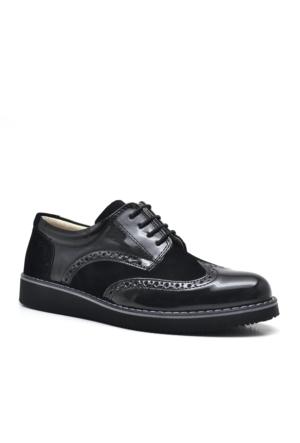 Raker Siyah Rugan Erkek Çocuk Okul Ayakkabısı