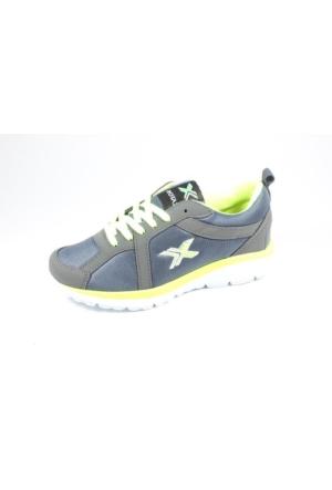 Rotax-211-72 Gri Fosfor Sarı Bayan Spor Ayakkabı