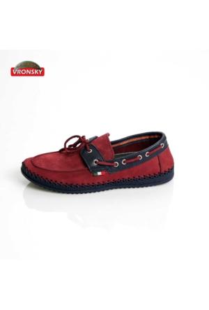 Vronsky Kc Mps0320-112 Bordo Nubuk Lacivert Ayakkabı