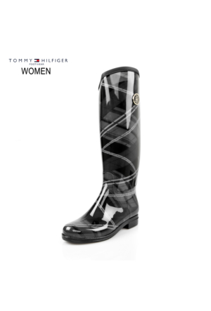Tommy Hilfiger Fw56821564-831 O1285Xbridge 6R High Boot Black Mix Çizme