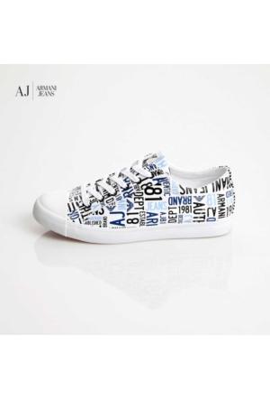 Armani Jeans Ayakkabı C65571610 Armani Men Footwear Bianco - White