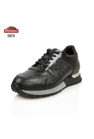 Vronsky Kc 6461-5155 Siyah Yakma - Füme Vecchid Ayakkabı