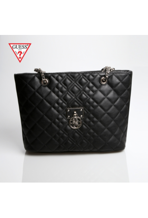 Guess Çanta Hwvg61 09230 Bla Guess Aliza Medium Tote