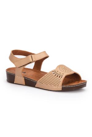 Polaris 71.157373.Z Taupe Kadın Sandalet