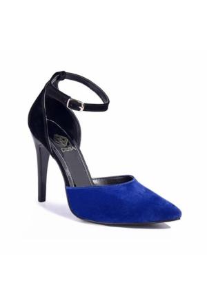 Desa Kadın Klasik Sandalet Mavi 6989
