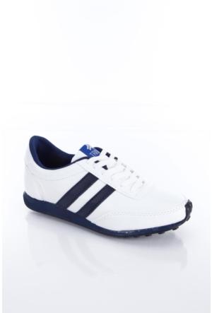Trione 509-3517-1001 Beyaz-Lacivert Kadın Spor Ayakkabı