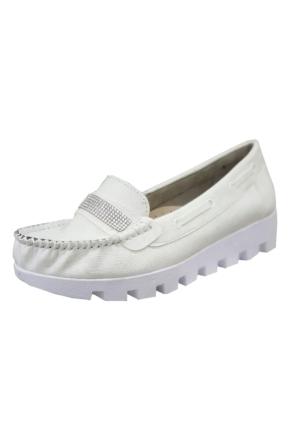 Berk Taşlı Beyaz Loafer Ayakkabı 6000183