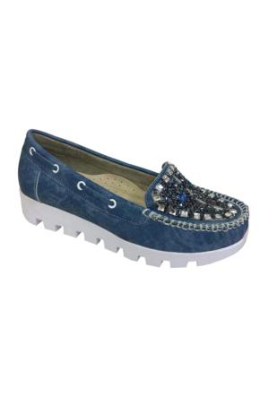 Berk Taşlı Mavi Bayan Ayakkabı 6000180