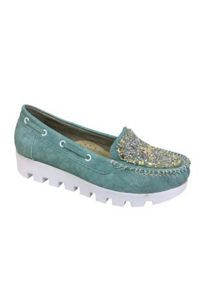 Berk Taşlı Yeşil Bayan Ayakkabı 6000181