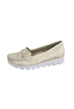 Berk Loafer Krem Bayan Ayakkabı 6000177