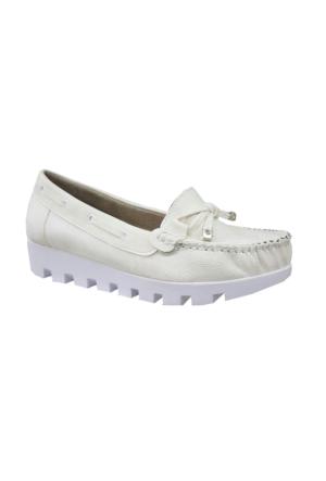 Berk Loafer Beyaz Bayan Ayakkabı 6000182