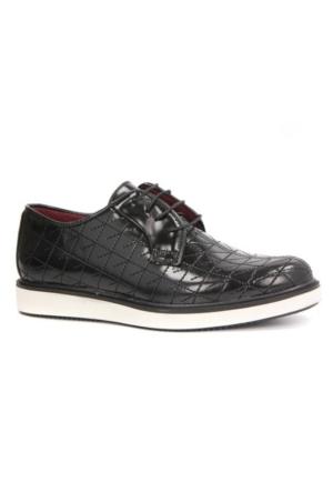Conteyner 772 Bağcıklı Desenli Mat Rugan Günlük Erkek Ayakkabı