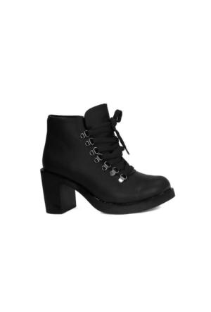 Blacksea 483 Günlük Termo Taban Topuklu Bayan Bot Ayakkabı