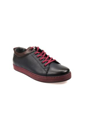Ziya Erkek Ayakkabı 6313 8209 Lacivert-Bordo