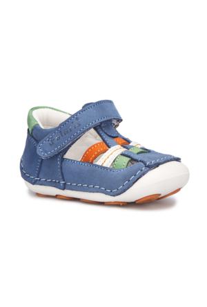 Polaris 71.509066.I Mavi Erkek Çocuk Deri Ayakkabı 516