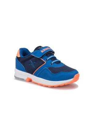 Kinetix Flat Saks Lacivert Neon Turuncu Erkek Çocuk Sneaker Ayakkabı