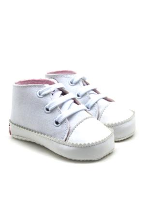 İlk Adım Yumuşak Tabanlı Beyaz Bebek Ayakkabı Patik