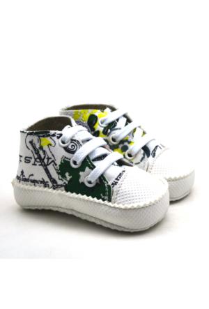 İlk Adım Yumuşak Tabanlı Yeşil Bebek Ayakkabı Patik