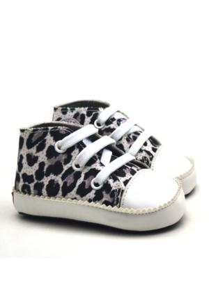 İlk Adım Yumuşak Tabanlı Leopar Desenli Bebek Ayakkabı Patik