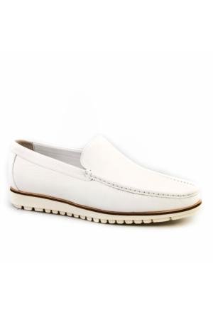 Cabani Light Taban Günlük Erkek Ayakkabı Beyaz Kırma Deri