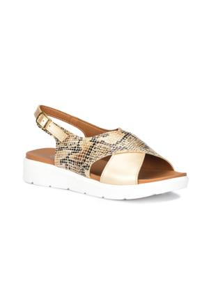 Polaris 71.157377.Z Altın Kadın Sandalet